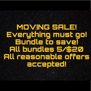 MOVING SALE All Bundles 5 for $20